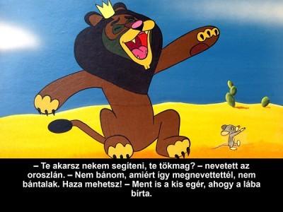 Az egér és az oroszlán - Diafilm